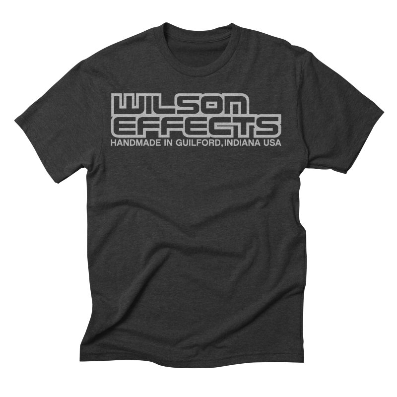 Wilson Effects Handmade Grey Logo in Men's Triblend T-Shirt Heather Onyx by Wilson Effects Artist Shop