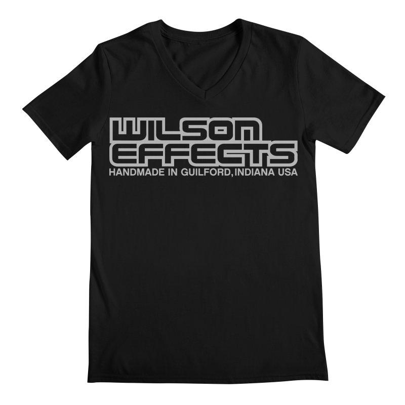 Wilson Effects Handmade Grey Logo Men's Regular V-Neck by Wilson Effects Artist Shop