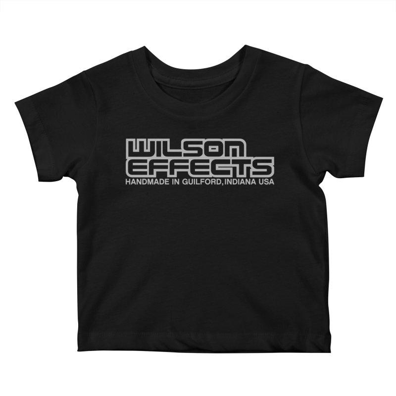 Wilson Effects Handmade Grey Logo Kids Baby T-Shirt by Wilson Effects Artist Shop