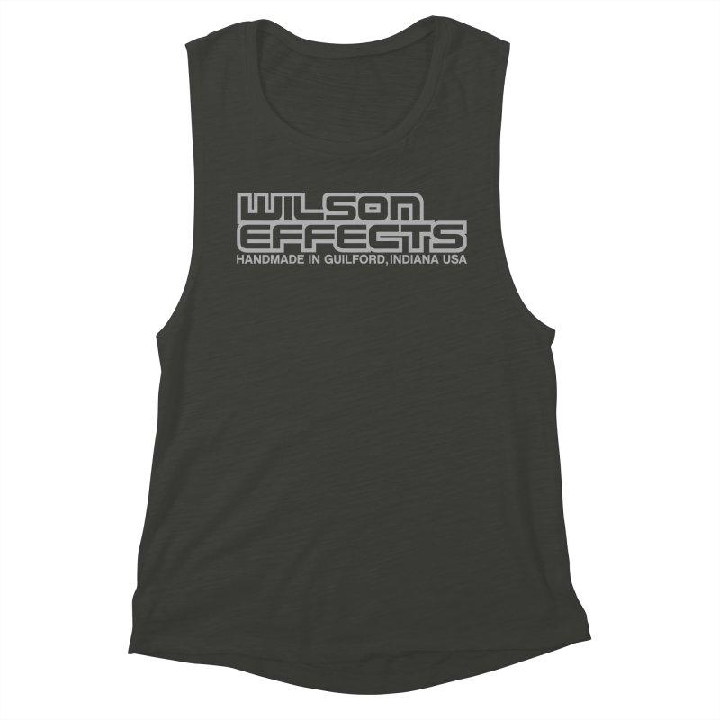 Wilson Effects Handmade Grey Logo Women's Muscle Tank by Wilson Effects Artist Shop