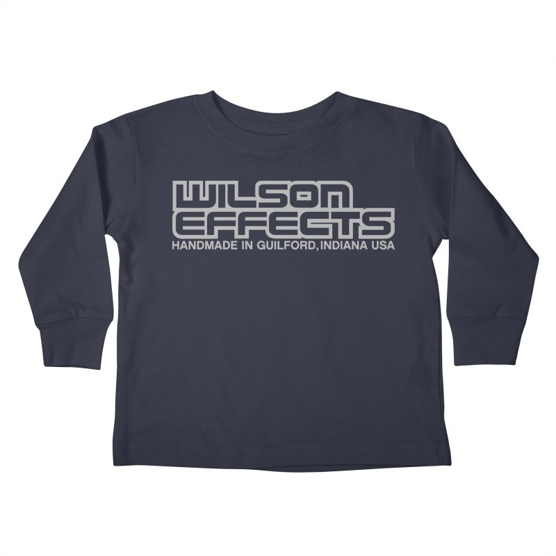 Wilson Effects Handmade Grey Logo Kids Toddler Longsleeve T-Shirt by Wilson Effects Artist Shop