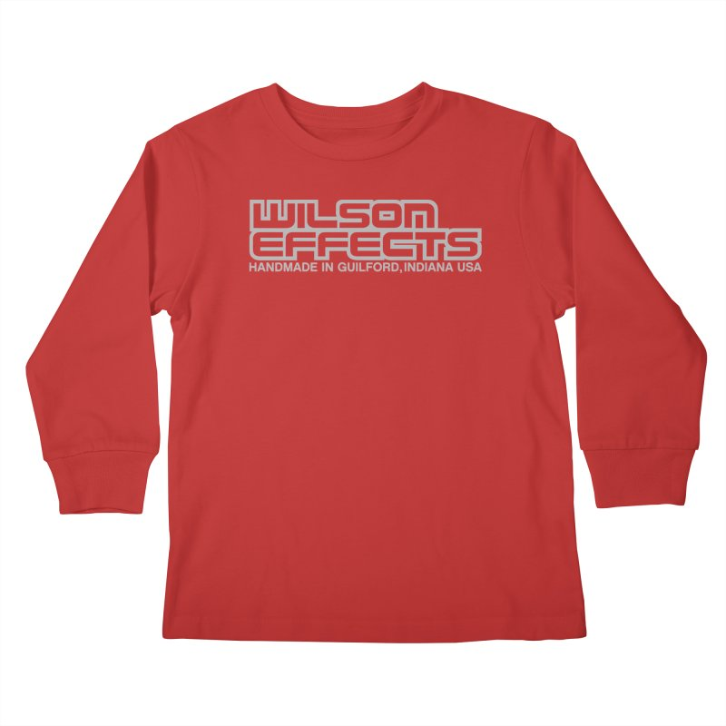 Wilson Effects Handmade Grey Logo Kids Longsleeve T-Shirt by Wilson Effects Artist Shop