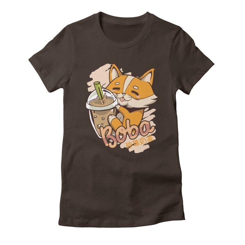 Corgi Boba Women's T-Shirt by wimsical