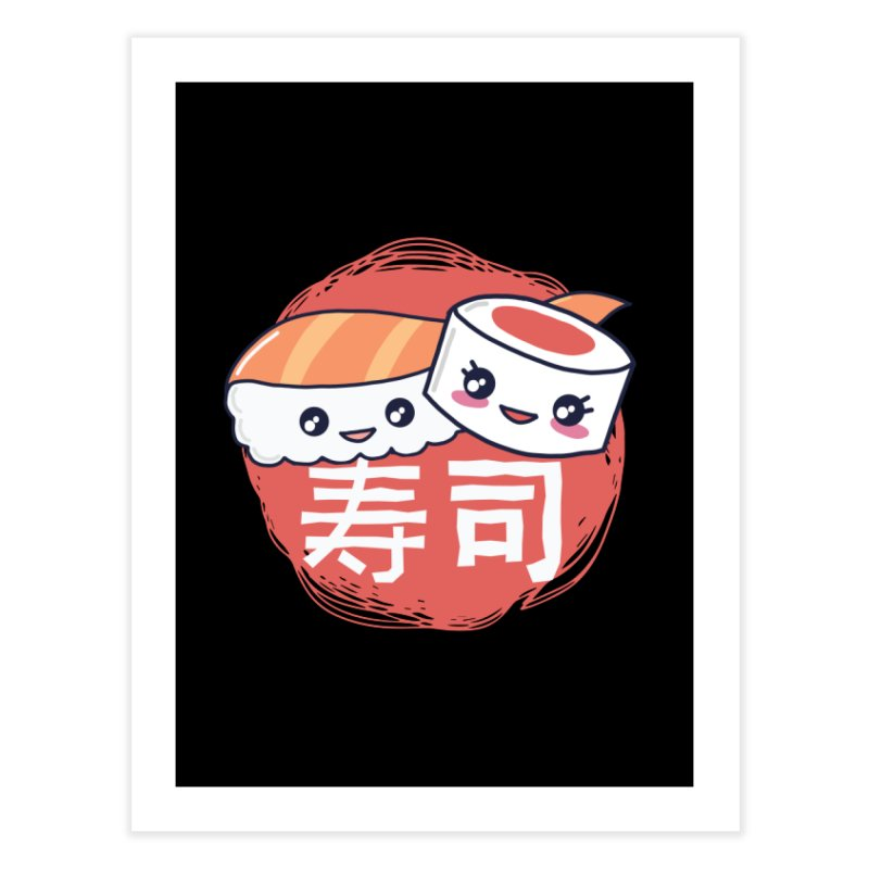 Pieces Of Sushi Home Fine Art Print by wimsical