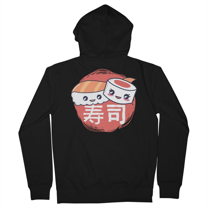 Pieces Of Sushi Men's Zip-Up Hoody by wimsical