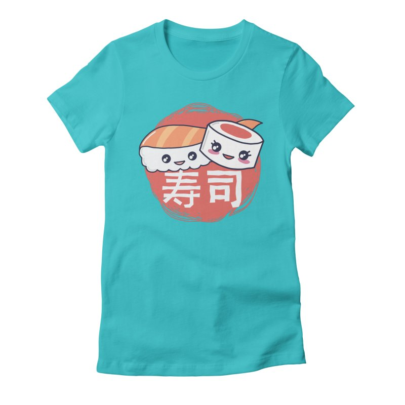 Pieces Of Sushi Women's T-Shirt by wimsical