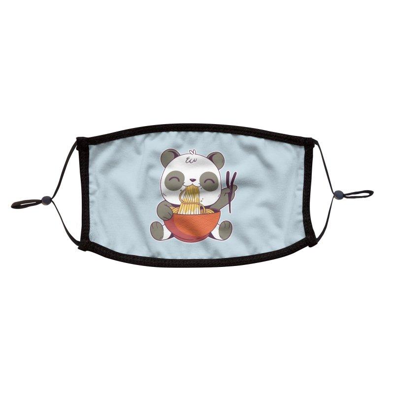 Ramen Panda Accessories Face Mask by wimsical