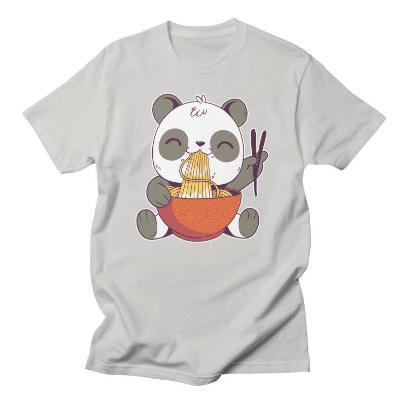 Ramen Panda Men's T-Shirt by wimsical