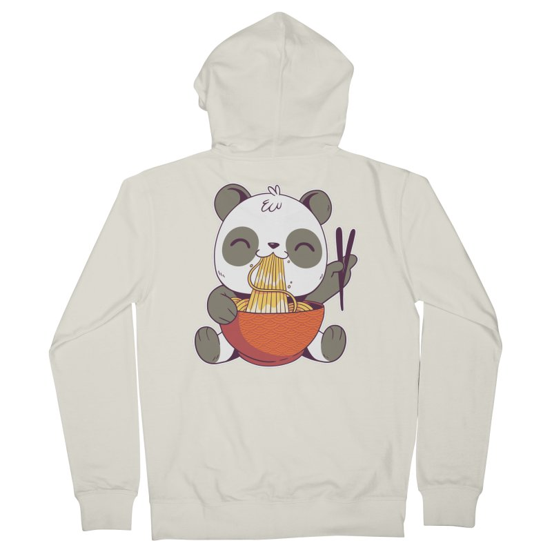Ramen Panda Men's Zip-Up Hoody by wimsical