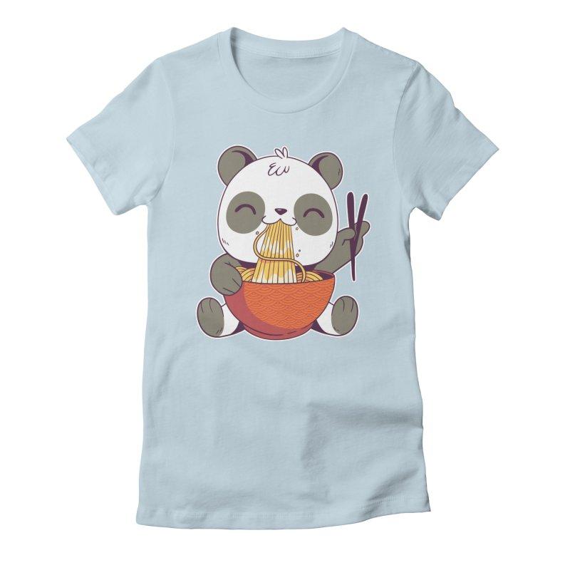 Ramen Panda Women's T-Shirt by wimsical