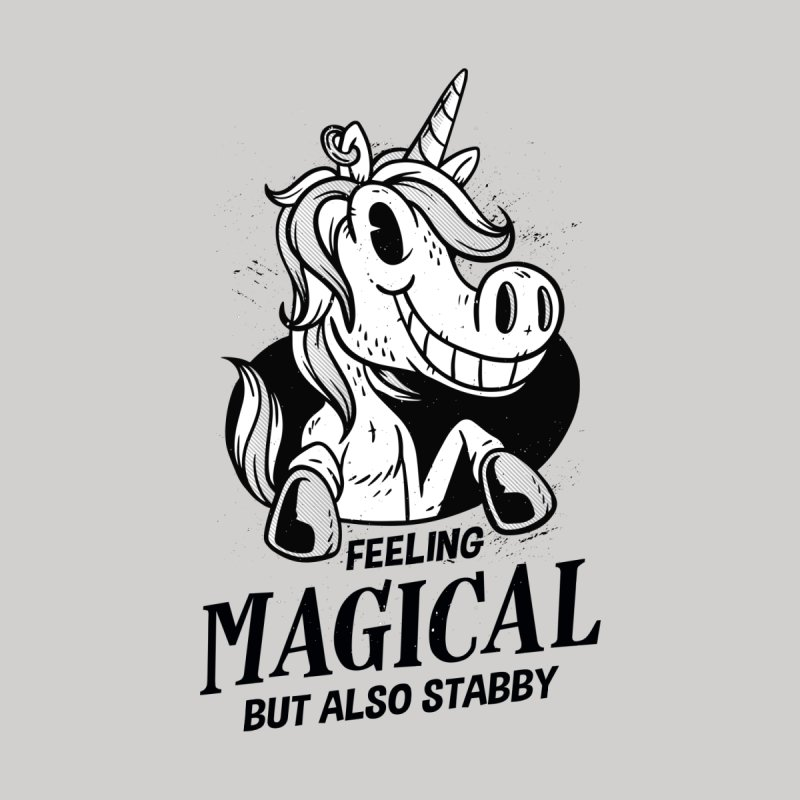 Feeling Magical But Also Stabby Unicorn Home Desor Stretched Canvas by wimsical