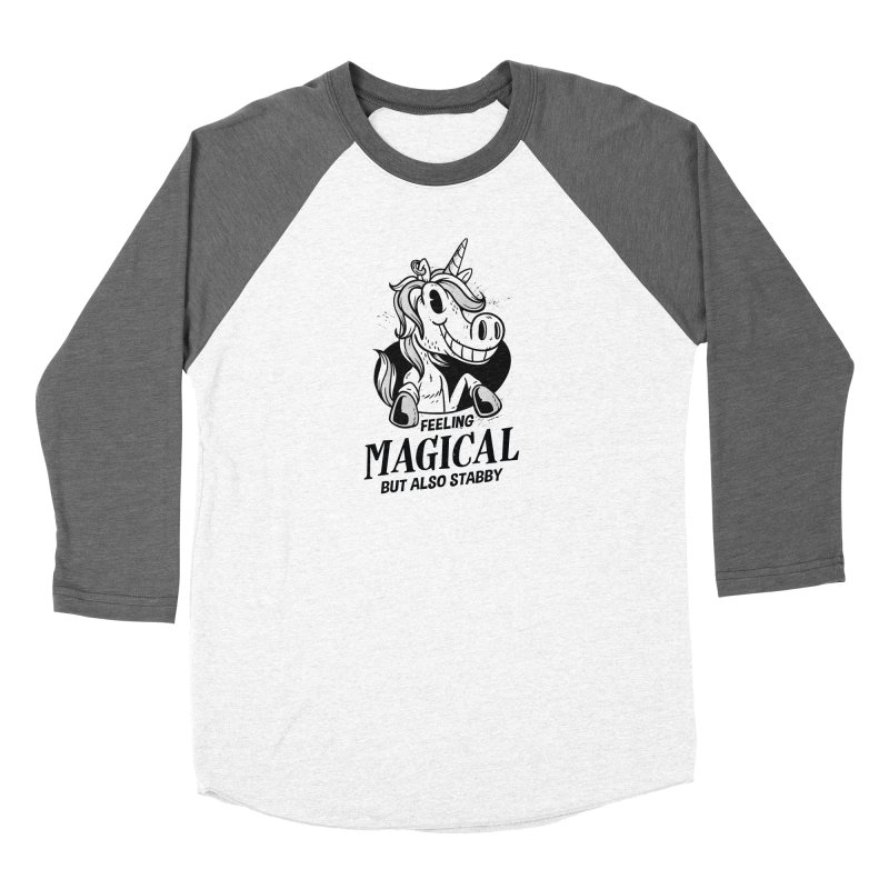 Feeling Magical But Also Stabby Unicorn Women's Longsleeve T-Shirt by wimsical