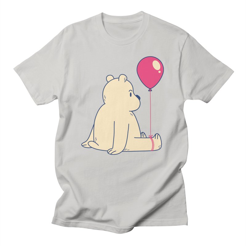 Bear and Balloon Men's T-Shirt by wimsical