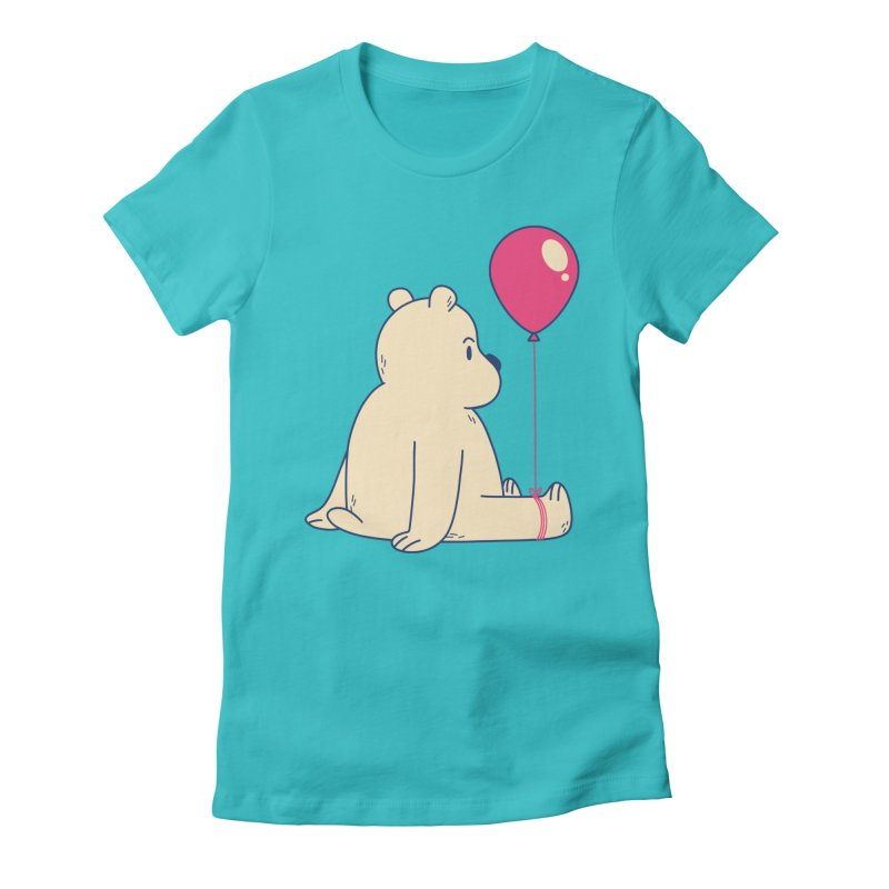 Bear and Balloon Women's T-Shirt by wimsical