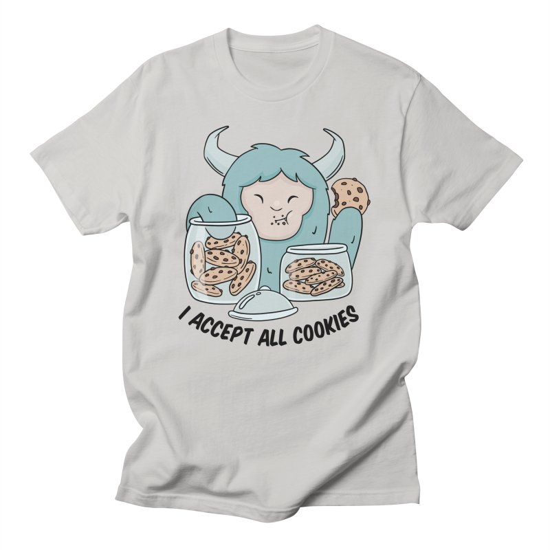 I Accept All Cookies Men's T-Shirt by wimsical