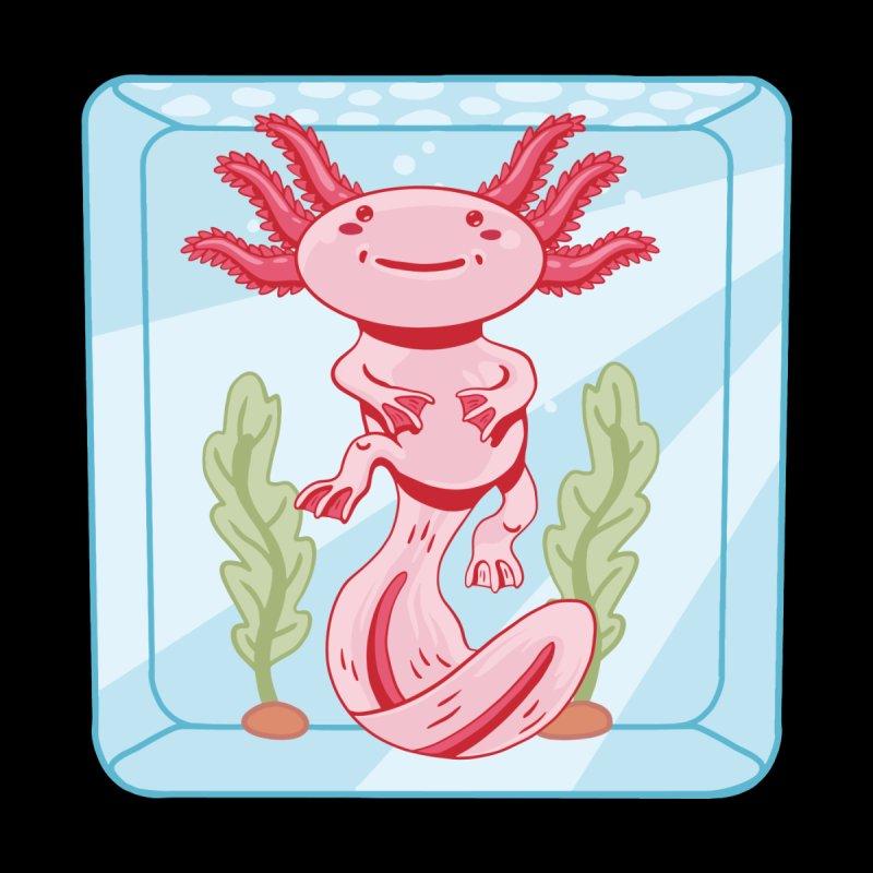 Axolotl Aquarium Men's T-Shirt by wimsical