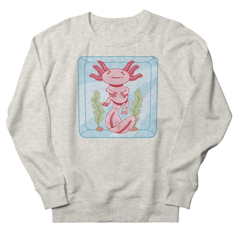Axolotl Aquarium Women's Sweatshirt by wimsical