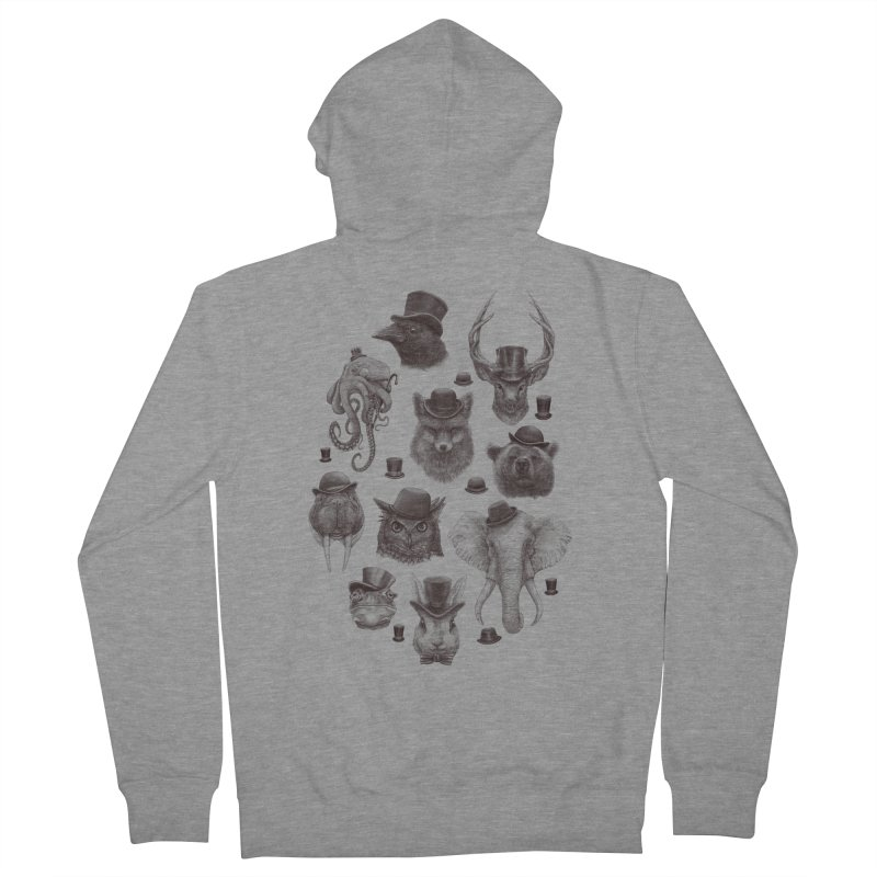 Gentlemen Women's Zip-Up Hoody by Windville's Artist Shop
