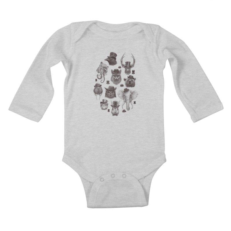 Gentlemen Kids Baby Longsleeve Bodysuit by Windville's Artist Shop