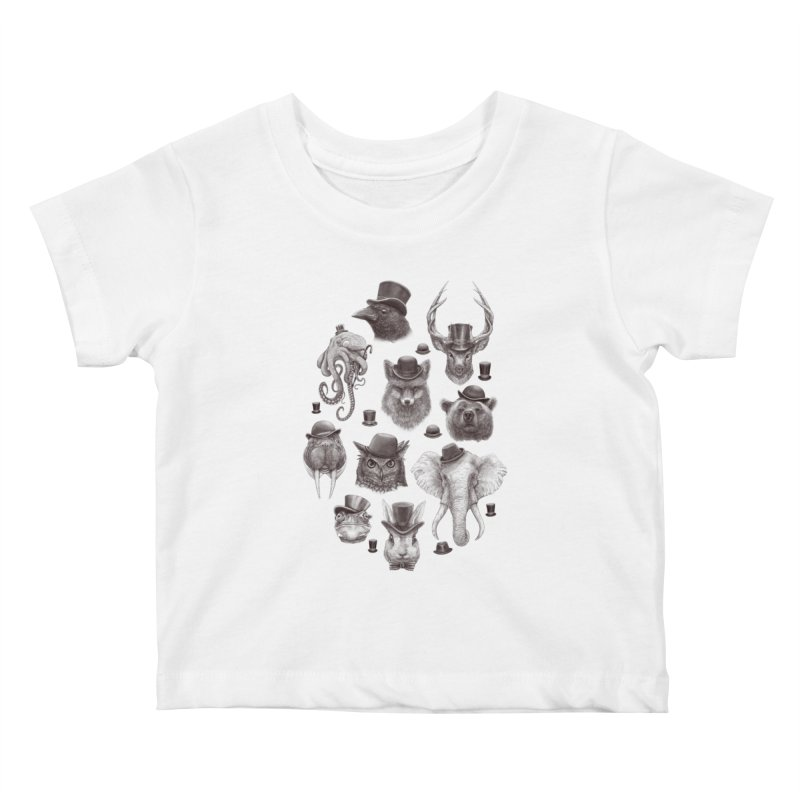 Gentlemen Kids Baby T-Shirt by Windville's Artist Shop