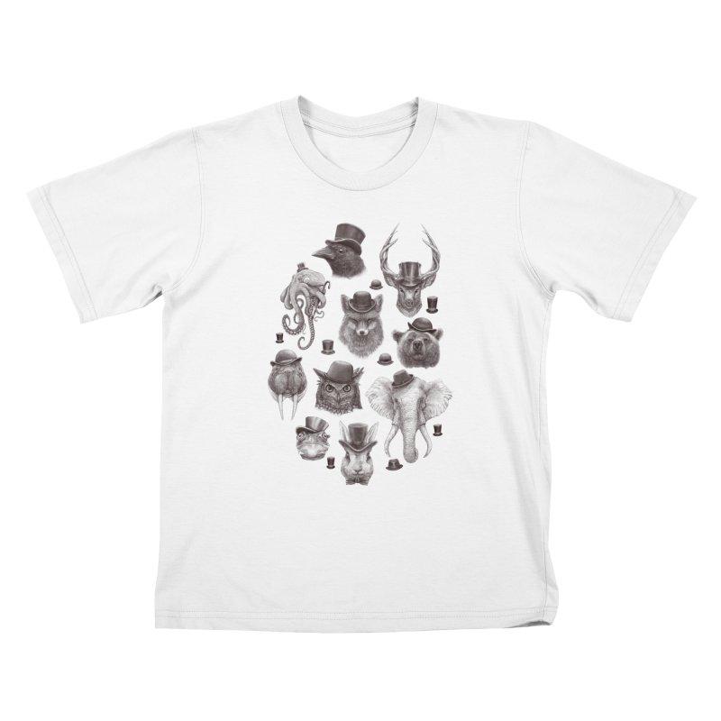 Gentlemen Kids T-Shirt by Windville's Artist Shop