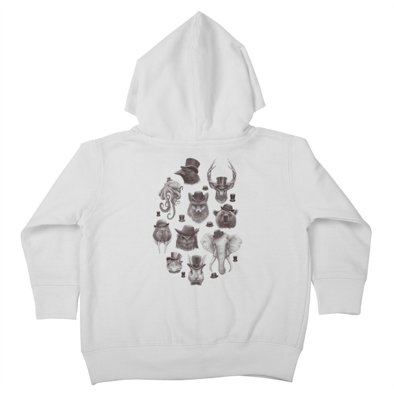 Gentlemen Kids Toddler Zip-Up Hoody by Windville's Artist Shop