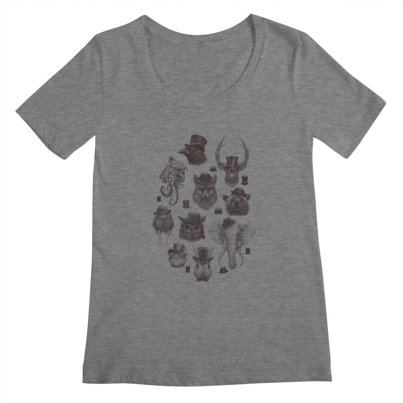 Gentlemen Women's Scoopneck by Windville's Artist Shop