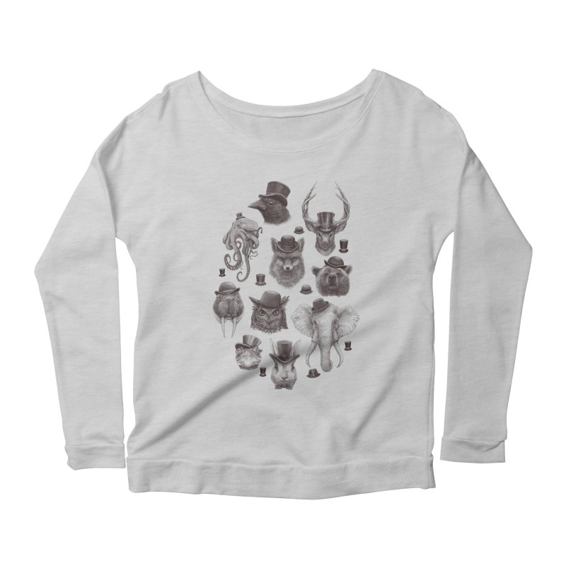 Gentlemen Women's Longsleeve Scoopneck  by Windville's Artist Shop
