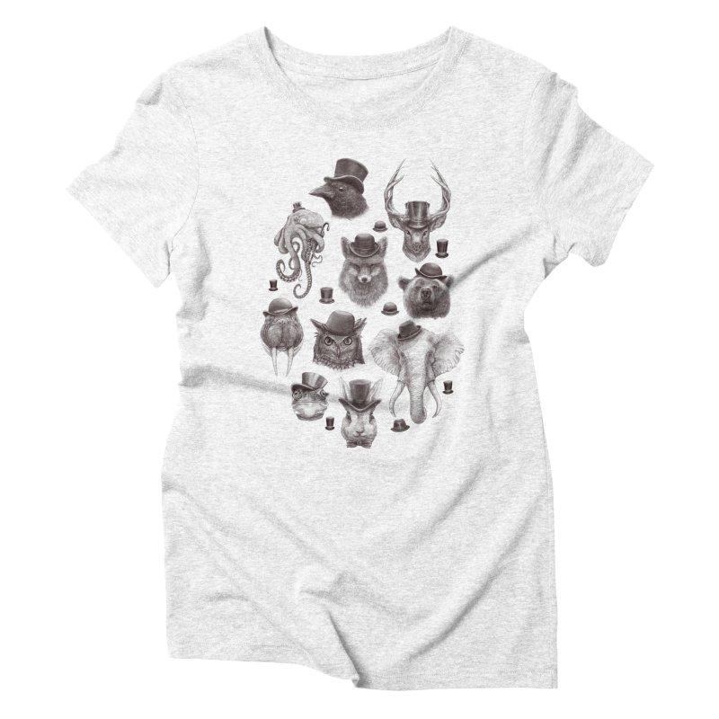 Gentlemen Women's Triblend T-shirt by Windville's Artist Shop