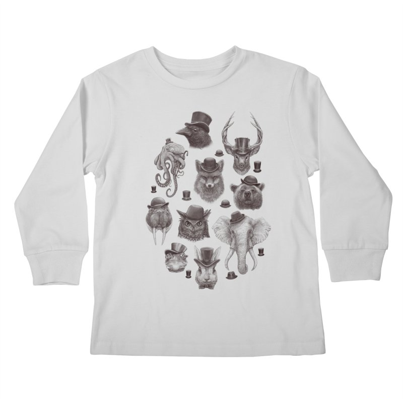 Gentlemen Kids Longsleeve T-Shirt by Windville's Artist Shop