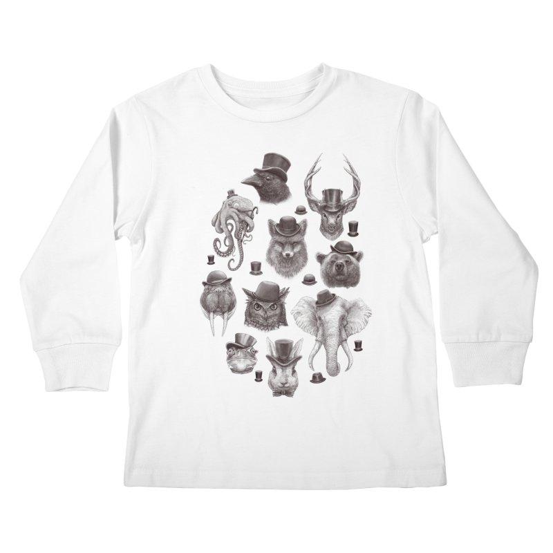 Gentlemen Kids Longsleeve T-Shirt by Windville's Artist Shop