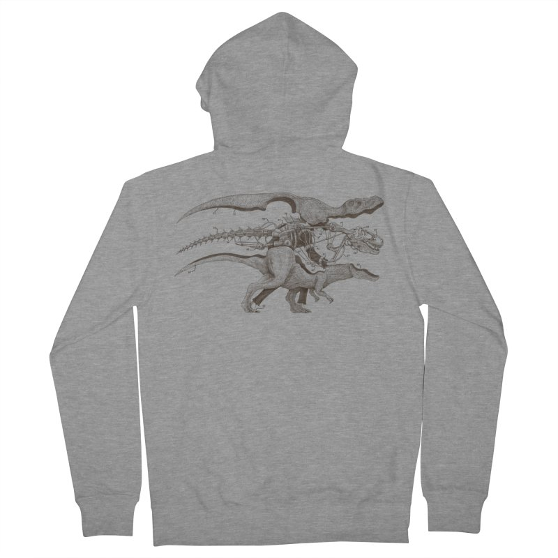 Mr. Rex Men's Zip-Up Hoody by Windville's Artist Shop