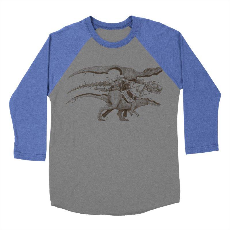 Mr. Rex Women's Baseball Triblend T-Shirt by Windville's Artist Shop