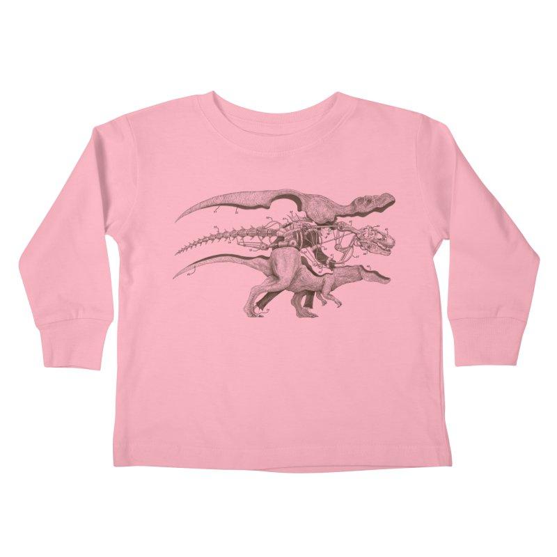 Mr. Rex Kids Toddler Longsleeve T-Shirt by Windville's Artist Shop