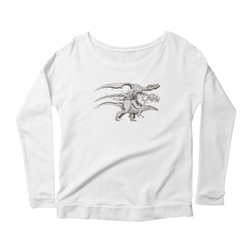 Mr. Rex Women's Longsleeve Scoopneck  by Windville's Artist Shop