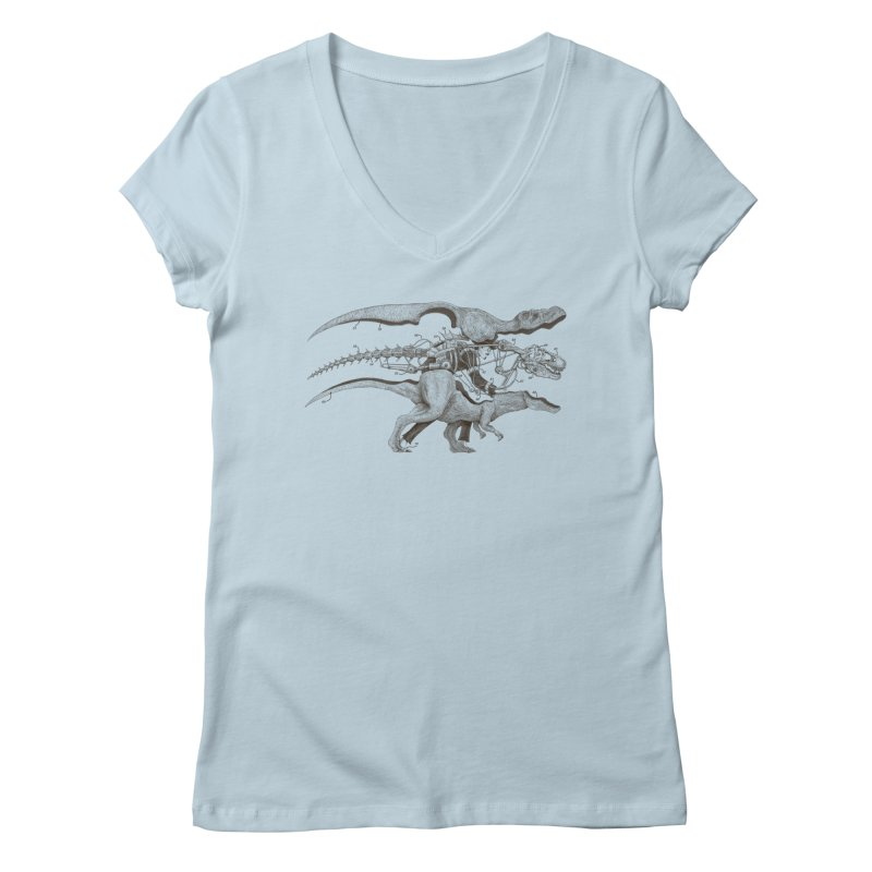 Mr. Rex Women's V-Neck by Windville's Artist Shop