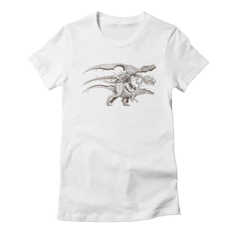 Mr. Rex Women's Fitted T-Shirt by Windville's Artist Shop