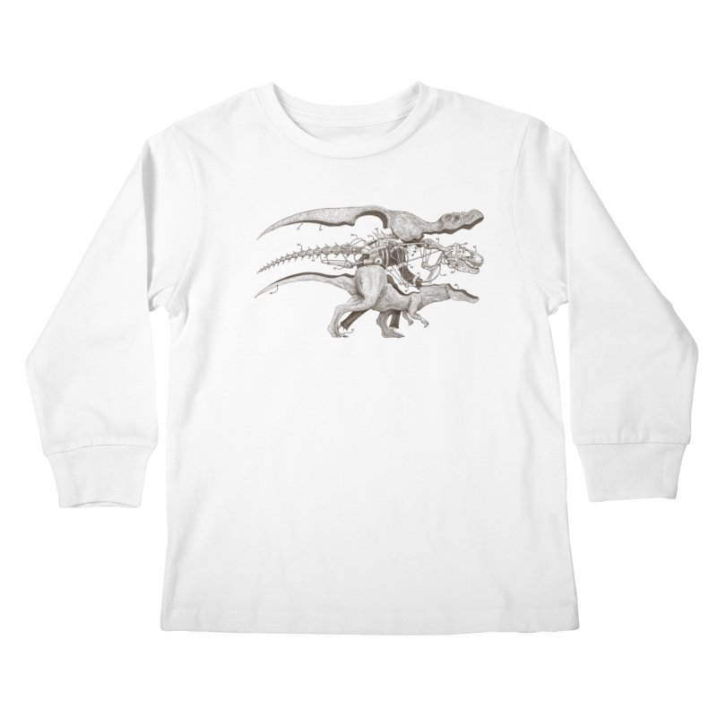 Mr. Rex Kids Longsleeve T-Shirt by Windville's Artist Shop