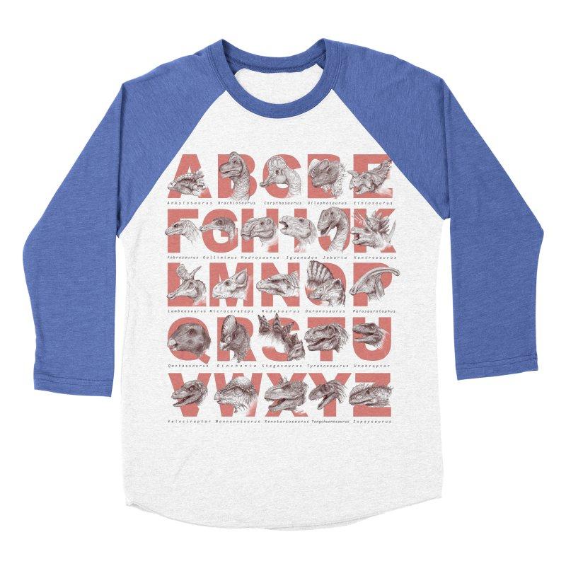 Dinopedia Men's Baseball Triblend T-Shirt by Windville's Artist Shop