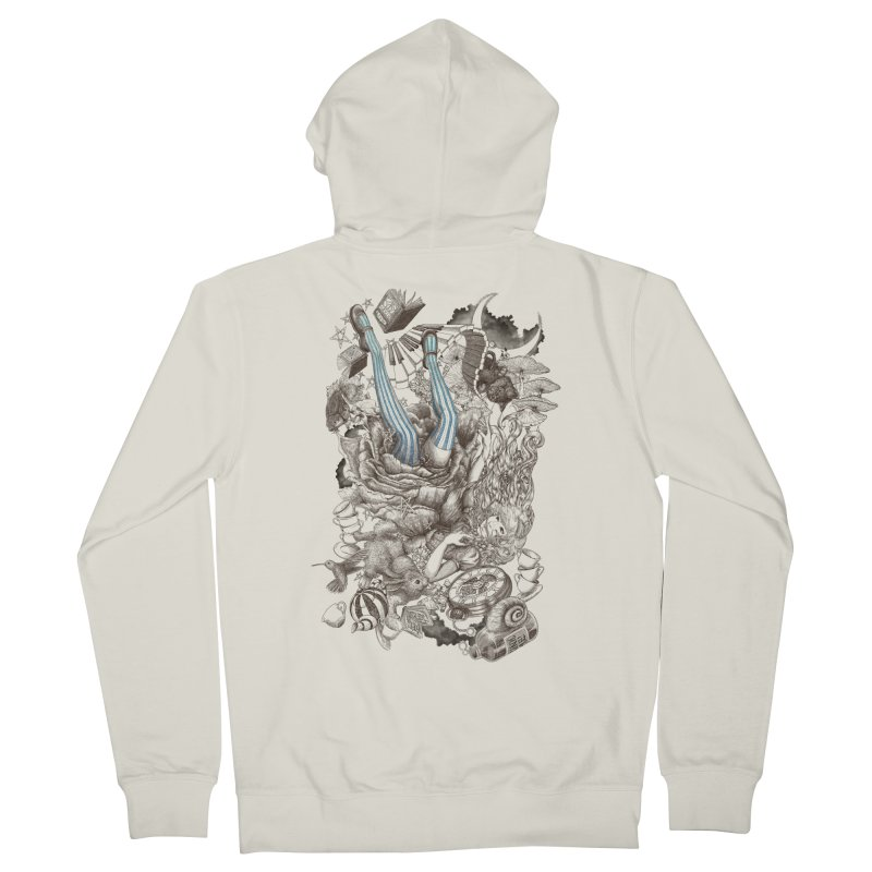 Wonderland Men's Zip-Up Hoody by Windville's Artist Shop
