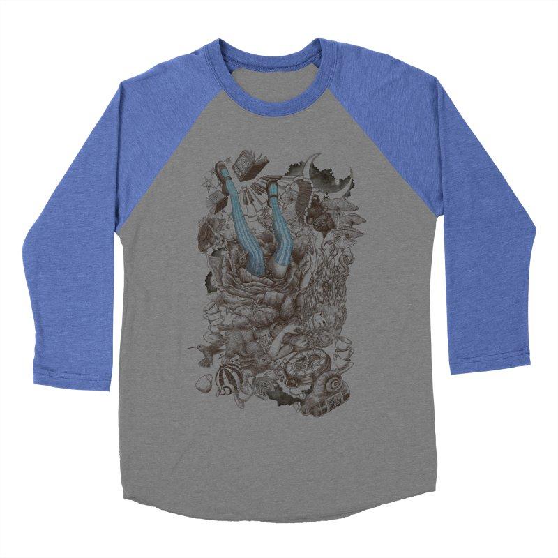 Wonderland Men's Baseball Triblend T-Shirt by Windville's Artist Shop