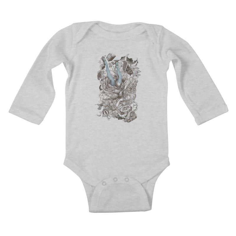 Wonderland Kids Baby Longsleeve Bodysuit by Windville's Artist Shop