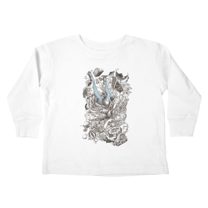 Wonderland Kids Toddler Longsleeve T-Shirt by Windville's Artist Shop