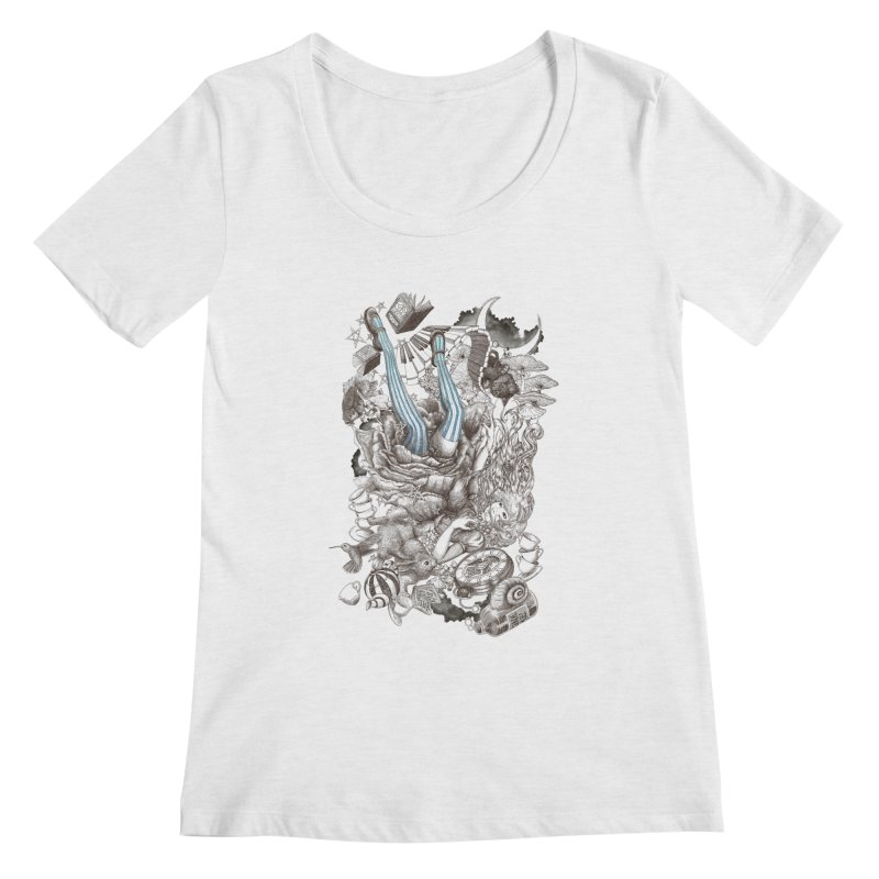 Wonderland Women's Scoopneck by Windville's Artist Shop