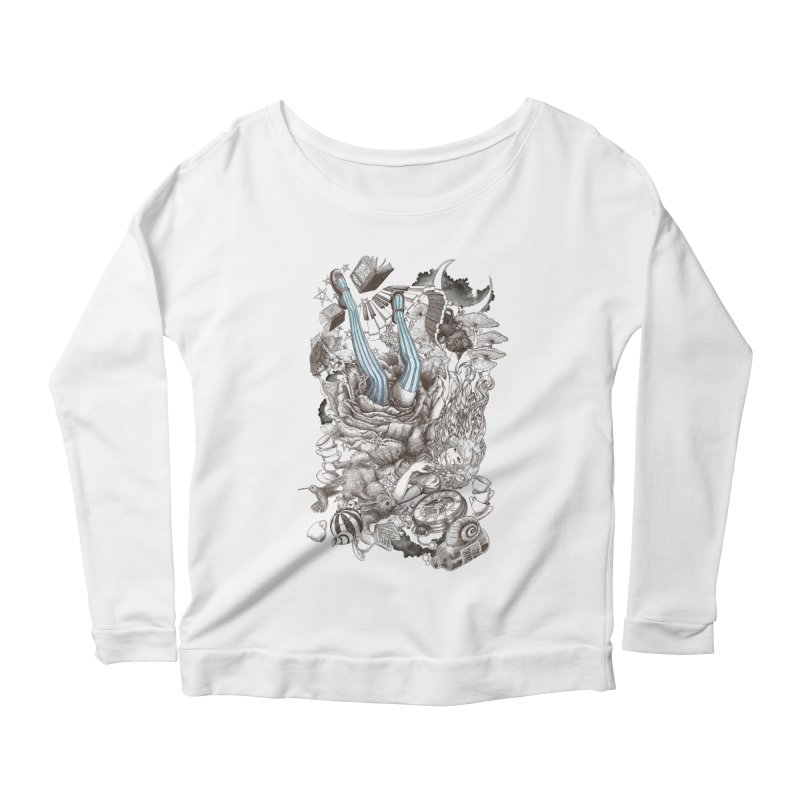 Wonderland Women's Longsleeve Scoopneck  by Windville's Artist Shop