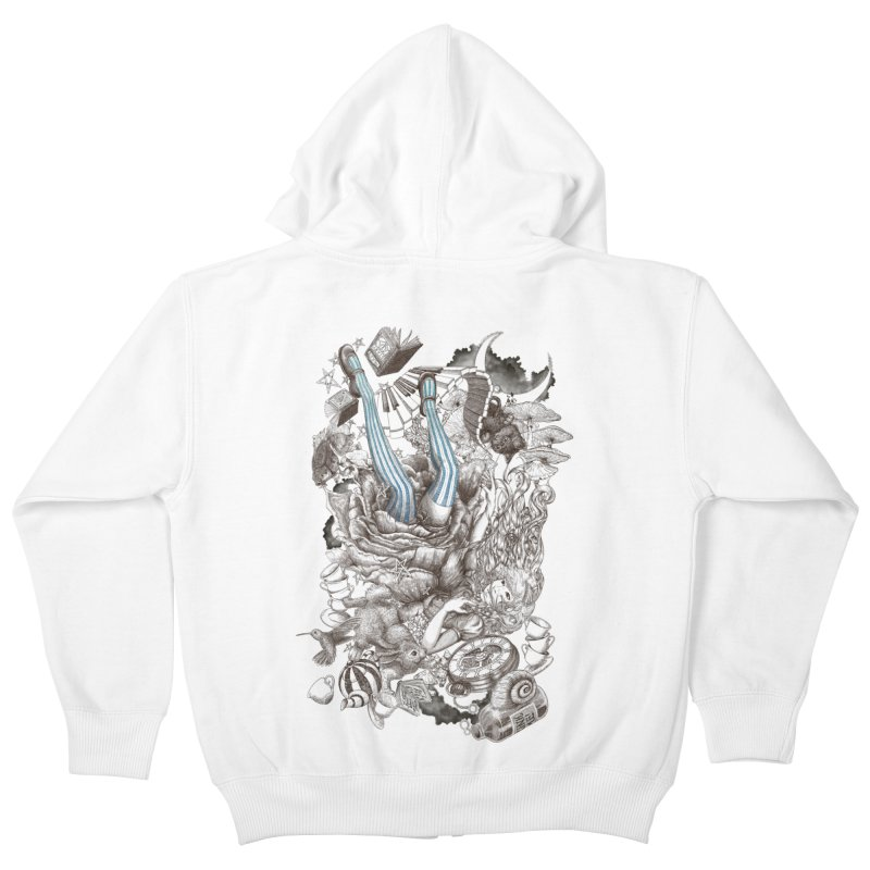 Wonderland Kids Zip-Up Hoody by Windville's Artist Shop