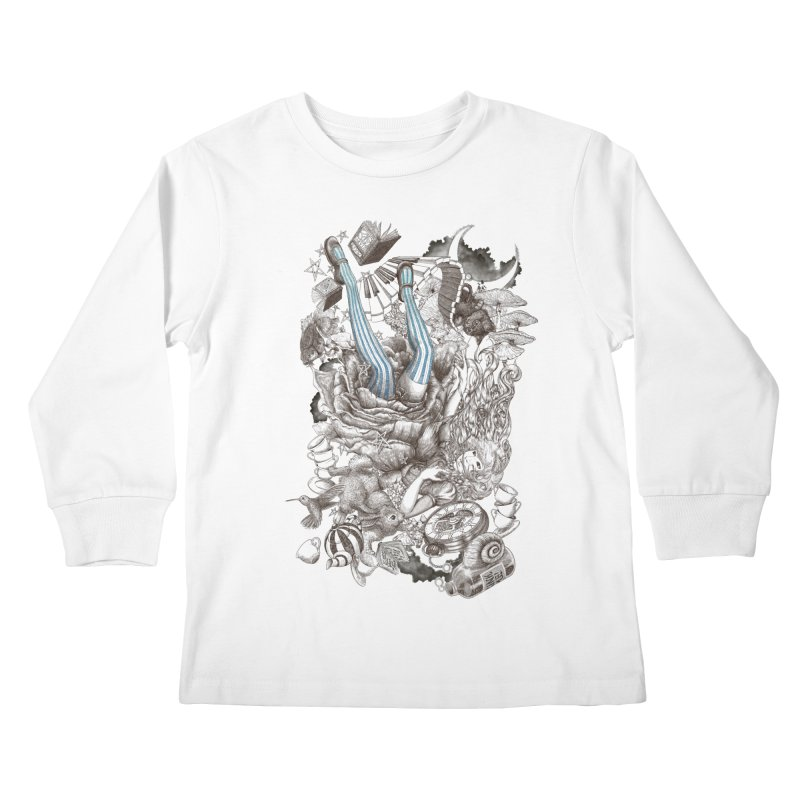 Wonderland Kids Longsleeve T-Shirt by Windville's Artist Shop