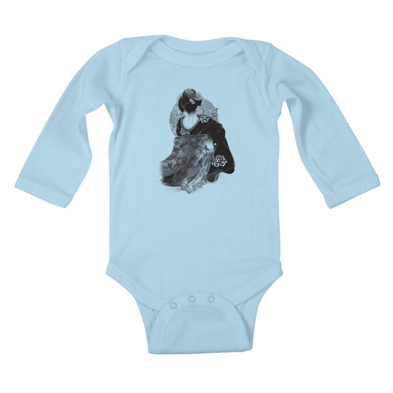 Maiko Kids Baby Longsleeve Bodysuit by Windville's Artist Shop