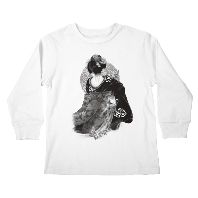 Maiko Kids Longsleeve T-Shirt by Windville's Artist Shop