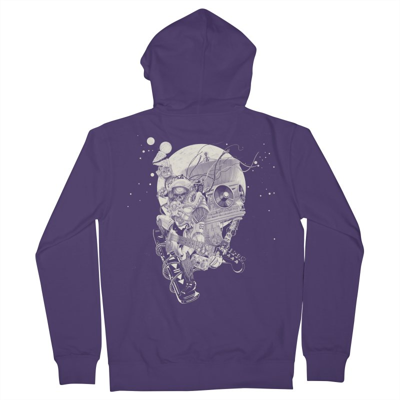 Space Concerto Women's Zip-Up Hoody by Windville's Artist Shop